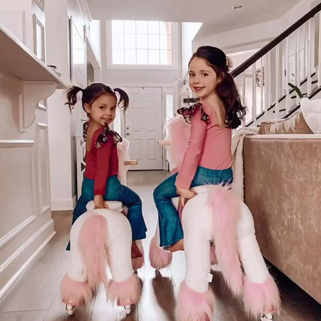Girls magical world with their Ponies