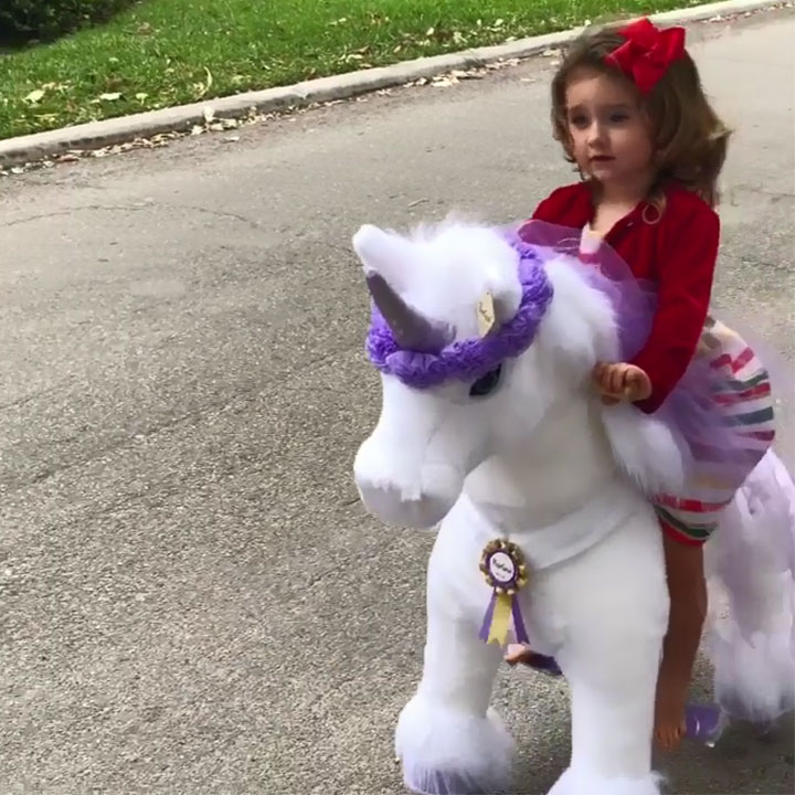 High end unicorn toy for girl